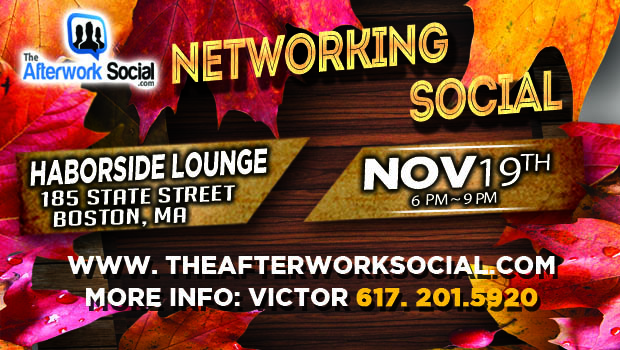 Boston's November Networking Mixer. Network with other Boston area professionals in a great social setting.
