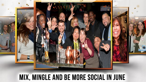 next Afterwork Social's networking mixer is on Thursday, June 30th at Emerald Lounge